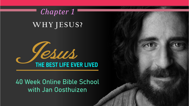 Chapter 1 – WHY JESUS?