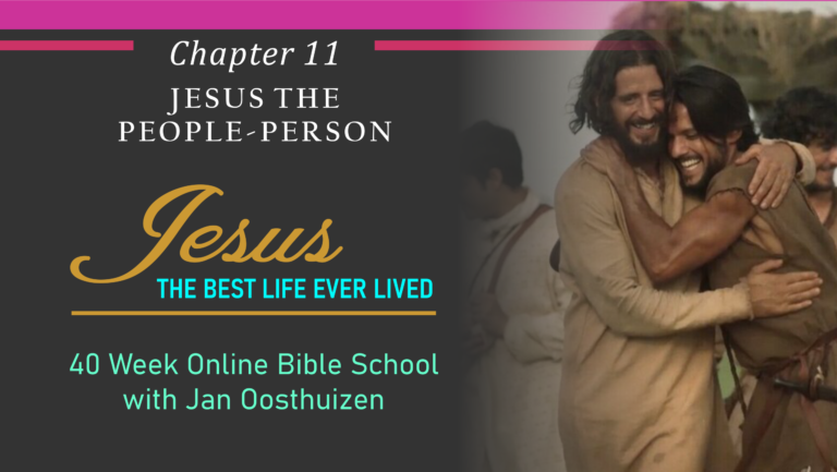 "Jesus, The ""People-Person"""